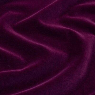 6560 - AUBERGINE VELVET English Suit Cotton (310 gms / 11 Oz)