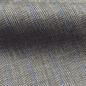 8855 - LIGHT GREY FANCY HERRINGBONE BLUE PIN (250-280 grams / 8-9 Oz)