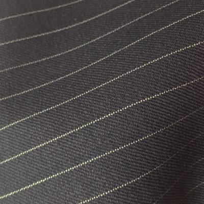 H2130 - BLACK (Narrow White Pin Stripe 280-300 grams / 9.5-10.5 Oz)