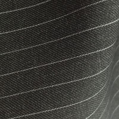 H2131 - CHARCOAL (Narrow White Pin Stripe 280-300 grams / 9.5-10.5 Oz)