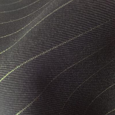 H2133 - BLACK (White Pin Stripe 280-300 grams / 9.5-10.5 Oz)
