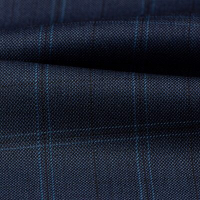 H3110 - Light Navy W/ Blue Black OC Plaid (270 grams / 9 Oz)