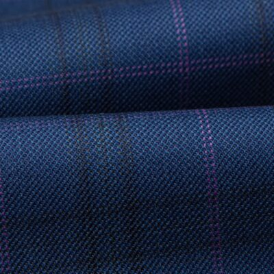 H3112 - Light Navy W/ Midnight Lilac OC Plaid (270 grams / 9 Oz)