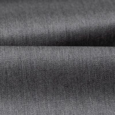 H3139 - Textured Grey Plain Gabardine (270 grams / 9 Oz)
