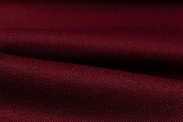 H3144 - Dark Red Plain Gabardine (270 grams / 9 Oz)