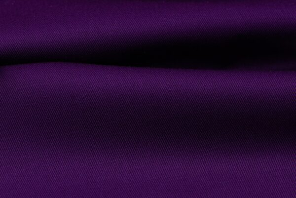 H3145 - Dark Purple Plain Gabardine (270 grams / 9 Oz)