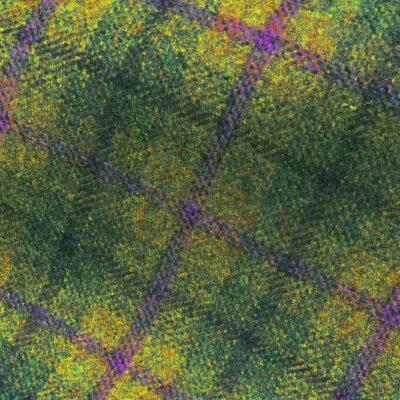 H3415 - Green Check W/ Lilac Green (390 grams / 13.5 Oz)