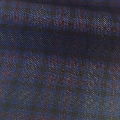 H4110 - French Blue Red Gingham (285 grams / 9 Oz)