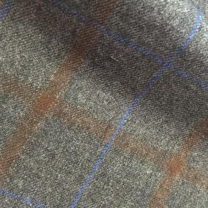 H4214 - GREY - Brown Blue Check (290-310 grams / 10 Oz)
