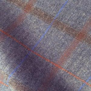 H4215 - SLATE GREY - Brown Blue Check (290-310 grams / 10 Oz)