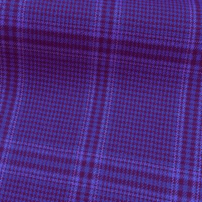 H5104 - BLUE WITH LILAC RED PINK CHECK (240 grams / 8 Oz)