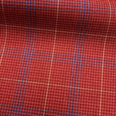 H5108 - RED WITH BLUE GOLD CHECK (240 grams / 8 Oz)