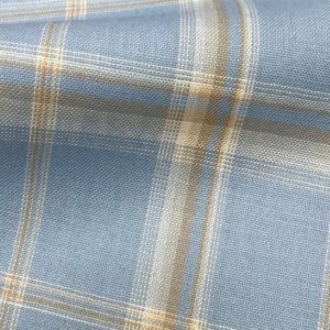 H5114 - LIGHT BLUE WITH WHITE BROWN CHECK (240 grams / 8 Oz)