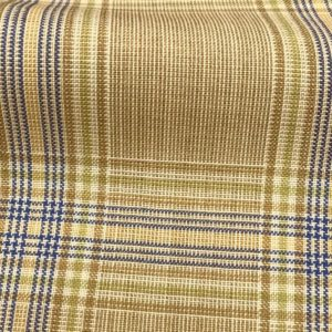 H5117 - BEIGE WITH LIME BLUE CHECK (240 grams / 8 Oz)