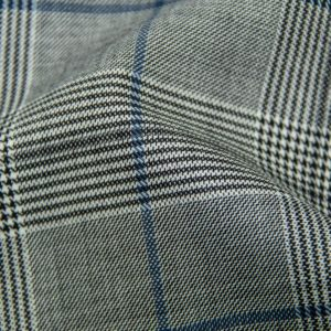 H5900 - LIGHT GREY PLAID WITH NAVY & BLACK OC (275 grams / 8 Oz)
