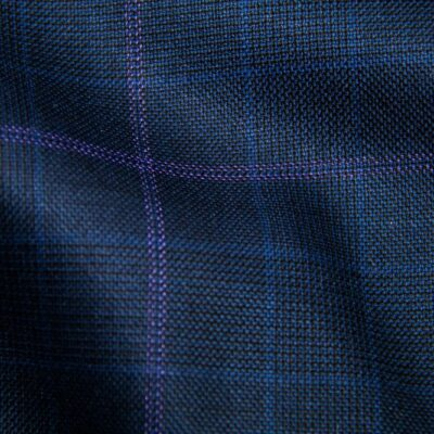 H5901 - NAVY PLAID WITH LT PURPLE PANE AND BLUE CHECK (275 grams / 8 Oz)