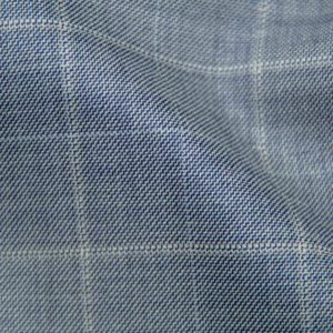 H5902 - SOFT BLUE PLAID WITH WHITE PANE AND WHITE CHECK (275 grams / 8 Oz)