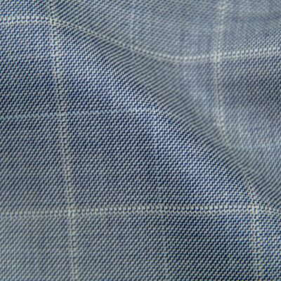 H5902 - SOFT BLUE PLAID WITH WHITE PANE AND WHITE CHECK (275 grams / 8 Oz)