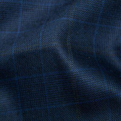 H5908 - ROYAL BLUE TRAM PLAID W/ GOLD WINDOW PANE SKY CHECK (275 grams / 8 Oz)