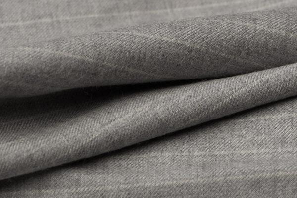 H7119 - Light Grey W/ White Chalk Stripe (300 grams / 10 Oz)