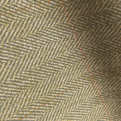 H7412 - GREEN HERRINGBONE WITH RED & BROWN OVER-CHECKS (500 grams / 17 Oz)