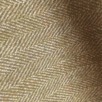 H7413 - BROWN HERRINGBONE WITH RED & BROWN OVER-CHECKS (500 grams / 17 Oz)