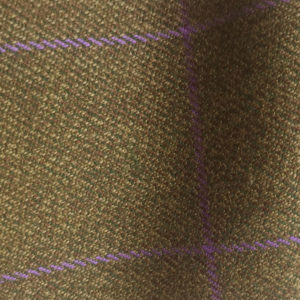 H7423 - BROWN WITH PURPLE OVERCHECK (500 grams / 17 Oz)