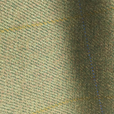 H7428 - LIGHT GREEN WITH BLUE & GOLD OVER-CHECKS (500 grams / 17 Oz)