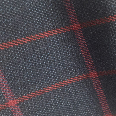 H7436 - NAVY WITH RED OVERCHECK (500 grams / 17 Oz)