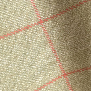 H7439 - BEIGE WITH RED OVERCHECK (500 grams / 17 Oz)
