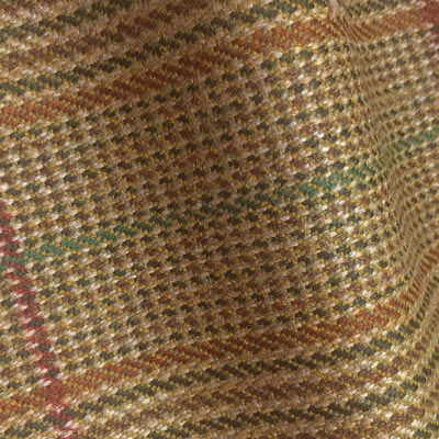 H7443 - LIGHT BROWN WITH RED & GREEN CHECK (500 grams / 17 Oz)