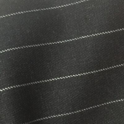 H7508 - CHARCOAL / WHITE ROPE PIN STRIPE (280 grams / 9 Oz)