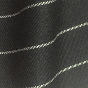 H7509 - CHARCOAL / WHITE WIDE ROPE PIN STRIPE (280 grams / 9 Oz)