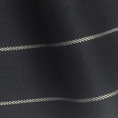 H7511 - NAVY / WHITE WIDE ROPE PIN STRIPE (280 grams / 9 Oz)