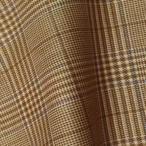 H7709 - LIGHT BROWN WITH BLUE PRINCE OF WALES (250-280 grams / 8-9 Oz)