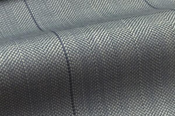 H7935 - STEEL BLUE HERRINGBONE WINDOW PANE (250-280 grams / 8-9 Oz)