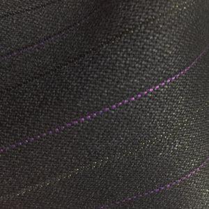 HC1211 - BLACK with Purple Pin Stripe (350 grams / 12 Oz)