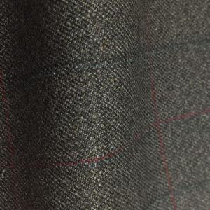 HC1233 - GREY Red Black Overcheck (350 grams / 12 Oz)