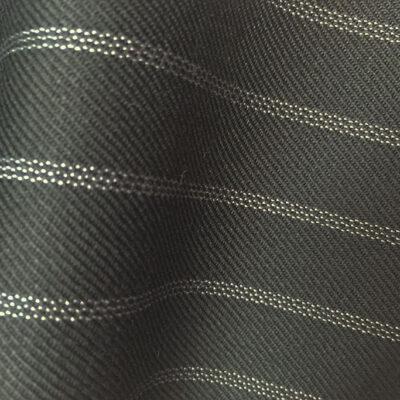 HC901 - BLACK with CLASSIC WHITE TRIPLE PIN STRIPE (380-400 grams / 13-14 Oz)
