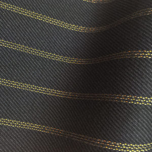 HC903 - MIDNIGHT NAVY with CLASSIC GOLD TRIPLE PIN STRIPE (380-400 grams / 13-14 Oz)