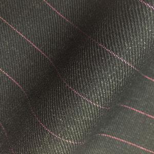 HC946 - CHARCOAL GREY with Lilac Pin Stripe (380-400 grams / 13-14 Oz)