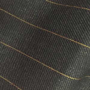 HC952 - CHARCOAL GREY with GOLD Pin Stripe (380-400 grams / 13-14 Oz)