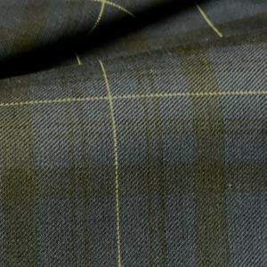HT2003 - Navy Black Yellow Check (260 grams / 8 Oz)