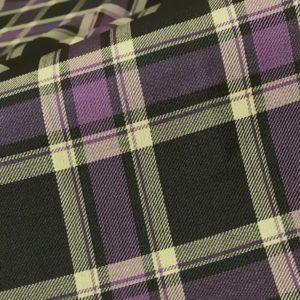 HT2028 - Purple Yellow Black Check (260 grams / 8 Oz)