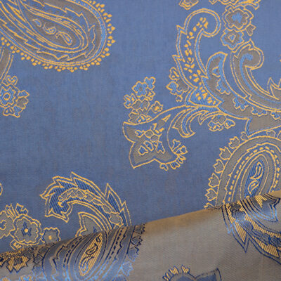 HTL 7032 - Large Paisley Blue W/Gold