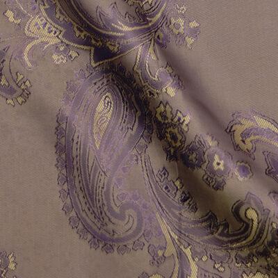 HTL 7033 - Large Paisley Gold W/Purple