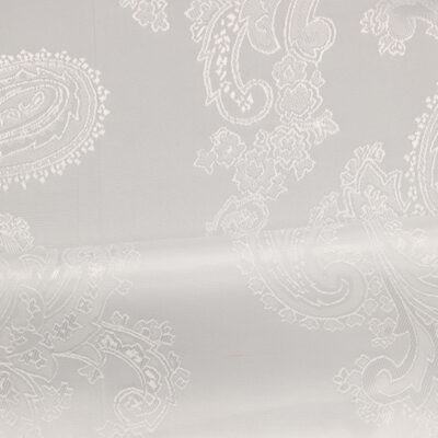 HTL 7034 - Large Paisley White /Silver