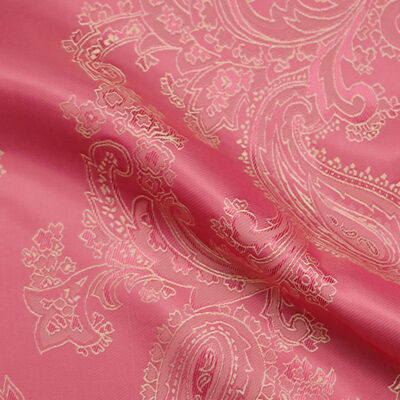 HTL 7047 - Large Paisley Pink W/Gold