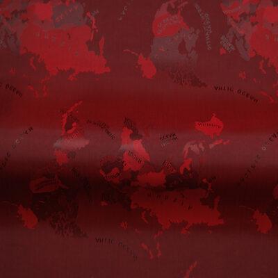 HTL 7102 - World Map Maroon