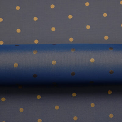 HTL 7122 - Polka Dot Blue W/ Gold